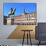 Puzzle 1000 piezas Pintura de paisaje de arquitectura española Palacio de la Alhambra Pintura de callejón diagonal del Palacio Real de Madrid puzzle 1000 piezas clementoni Rompecab50x75cm(20x30inch)