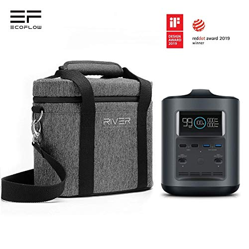 EcoFlow River 500 - Portable Solar Generator - Steady 300 watts AC power - 412 watt hour capacity