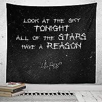 新しい壁のタペストリー黒と白の星寝室の装飾タペストリータペストリーアート抽象的な背景布-GT17-17_260 * 220
