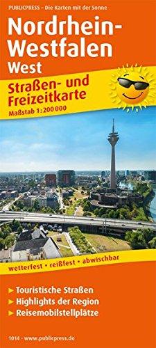Nordrhein-Westfalen West: Straßen- und Freizeitkarte mit Touristischen Straßen, Highlights der Region und Reisemobilstellplätzen. 1:200000 (Straßen- und Freizeitkarte / StuF)