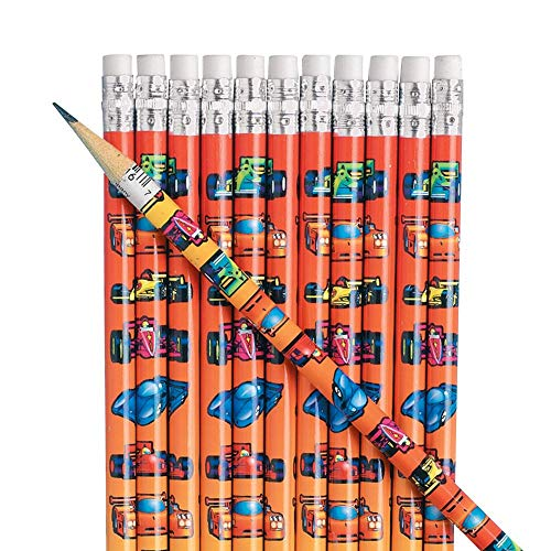 Fun Express Cars Pencils (2Dz) - 24 Pieces - Educational and Learning Activities for Kids