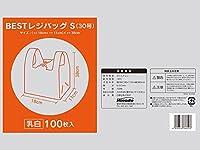 BESTレジバックS 0.013X290(180)X380 マチ110mm エンボス加工乳白色 3000枚入り
