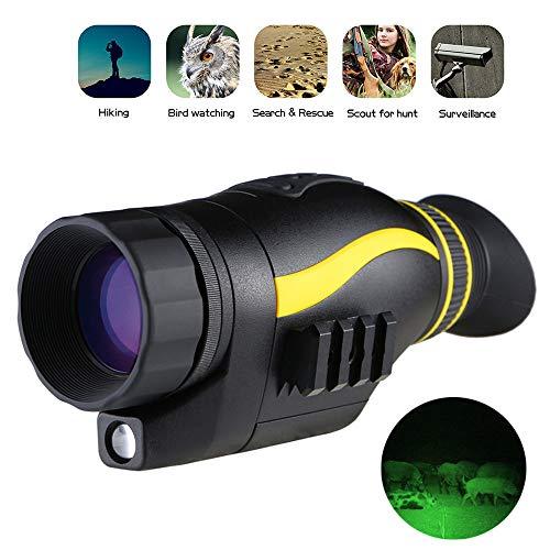 ZHLZH Visión Nocturna, Baja iluminación, Alta definición, función de reproducción de Fotos y Videos y Tarjeta SD para Surveilla de Seguridad, hasta 328 Yardas / 300 Metros