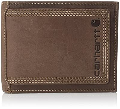 Carhartt Men's Billfold Wallet, Brown Contrast, One Size