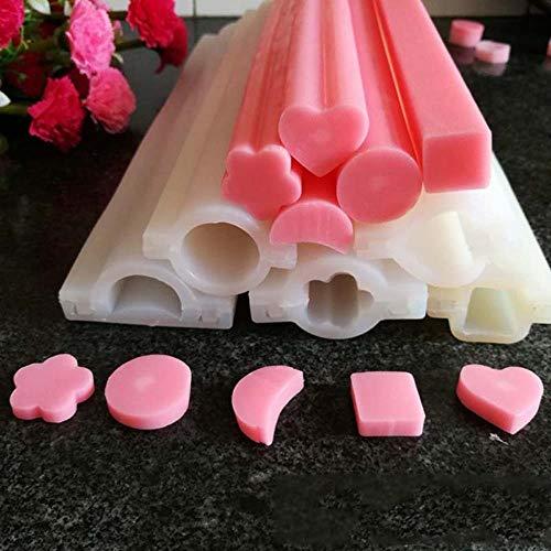 DIY handzeep mal siliconen buis kolom mal voor zelfgemaakte ambachtelijke zeep decoratie kaars maken schimmel gereedschap taart bakvorm