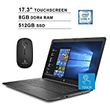 2020 HP Pavilion 17.3 Inch Touchscreen Laptop| Intel Core i7-8565U up to 4.6 GHz| 8GB RAM| 512GB SSD| DVD| WiFi| Bluetooth| HDMI| Win10| Gray + NexiGo Wireless Mouse Bundle
