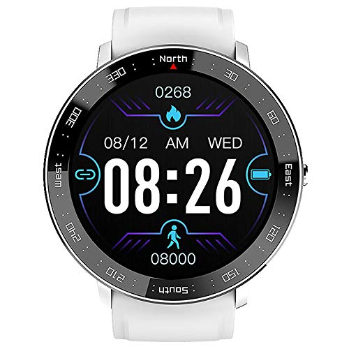 Mengen88 Smart Watch Fitness Tracker, Waterproof Sports Fitness Watch with Step Counter Calories Counter Activity Tracker, Relojes Touch Touch Completos, para Hombres Mujeres Niños,Plata