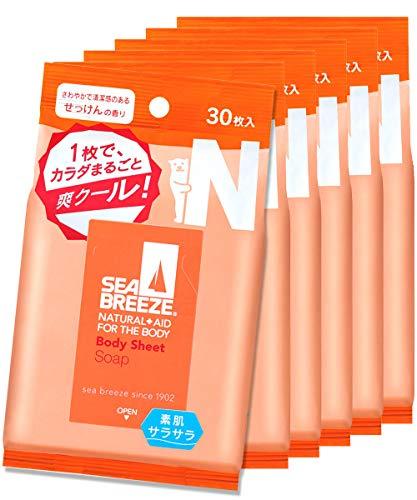 【まとめ買い】シーブリーズ ボディシート せっけんの香り 30枚×6個セット