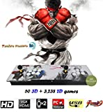 【3288 Games in 1】2020 Pandora's Box 9H 3D With 3,288 Games in 1 (3D & 2D) Retro Video Games, Comes With Double Stick Arcade Console, Supports HDMI and VGA Output for TV and PC