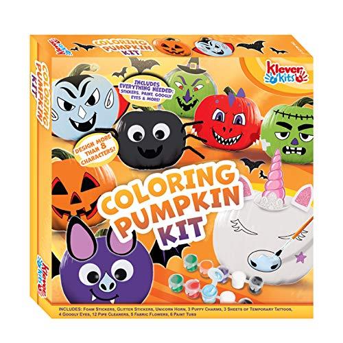 JOYIN Klever Kits Halloween Kids DIY Arts and Craft Coloring Pumpkin Kit for...