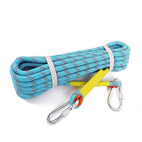 LXM Cuerda de nailon resistente al desgaste y resistente al agua de 10,5 mm, cuerda auxiliar para operaciones de alta altitud (tamaño: 50 m).