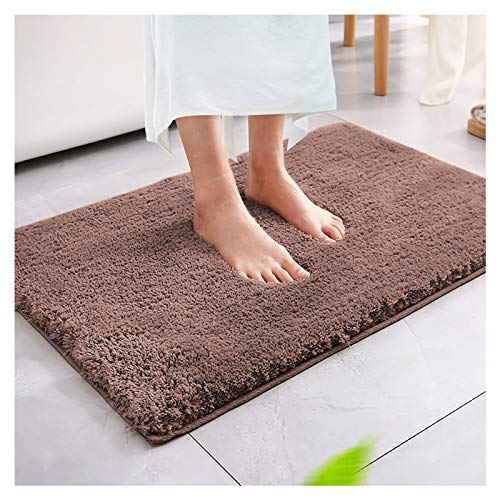 Magicfun Alfombra de baño, Alfombra Absorbente Antideslizante, Alfombra de baño de Microfibra esponjosa, alfombras de Ducha de Chenilla Suave Absorbente de Agua, Lavable a máquina(Marrón Oscuro)