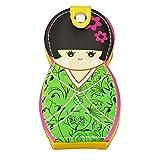6 pedazos de acero inoxidable manicura pedicura belleza herramientas con caja de muñeca japonesa, C