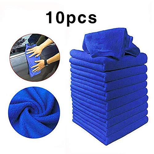 AEWB 10 STKS Microvezel Auto Schoonmaak Handdoek Automobile Motorfiets Wassen Glas Huishoudelijke Schoonmaak Kleine Handdoek A Blauw