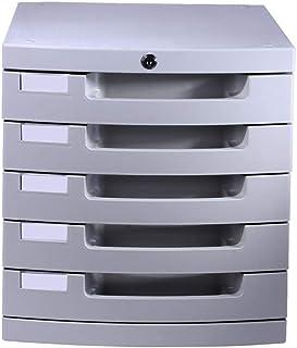 Module de rangement Armoire de Bureau Cabinet en Plastique 30 * 38 * 31.5cm de Cabinet de Bureau de Serrure à clé de boîte...