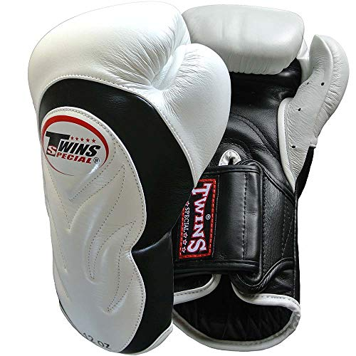 Twins BGVL-6 - Guantes de boxeo, color blanco y negro, 355 ml