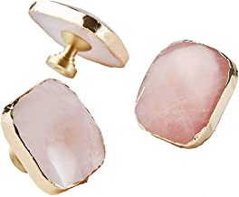 XYZMDJ Massief Messing Crystal Knoppen Dressoir Lade Knoppen Trekt Meubelkast Handvat Pull Harware Roze Kast Pull