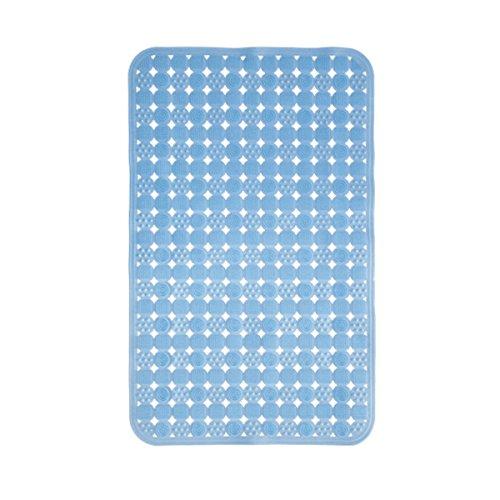 Neloodony Tappetino per Vasca Antiscivolo, tappetini antibatterici Antisdrucciolevoli antiabbaglianti Blu