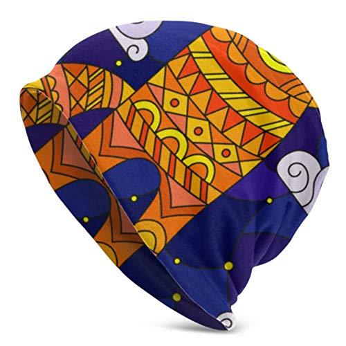 WHDKG Sombreros Beanie para Hombres Mujeres -Caliente, vidrieras Gato Rojo de Dibujos Animados Slouchy Beanie Cap Tough Headwear, Gorro elástico Suave y el