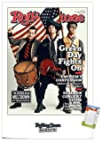 """Trends International Rolling Stone Magazine - Green Day 09 Wall Poster, 14.725"""" x 22.375"""", Premium Poster & Mount Bundle"""
