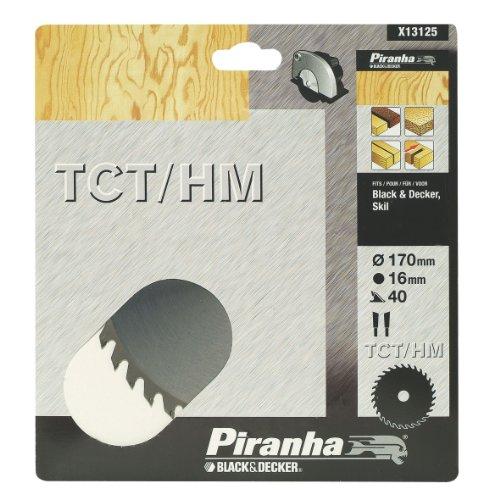 Piranha TCT/HM-Feinschnittsägeblatt (170 mm Durchmesser, 16 mm Blattbohrung, 40 Zähne, Black+Decker/Skil) X13125