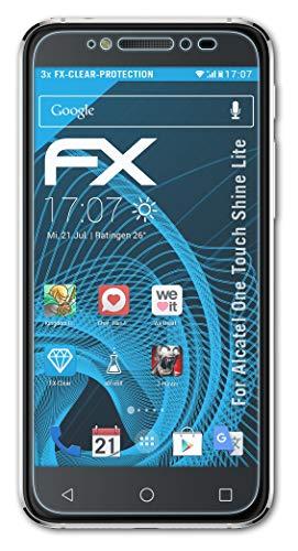 atFolix Schutzfolie kompatibel mit Alcatel One Touch Shine Lite Folie, ultraklare FX Bildschirmschutzfolie (3X)