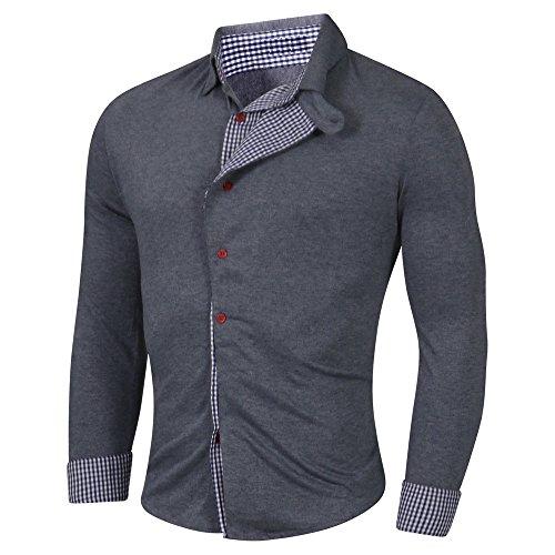Newfacelook Élégant Premium Hommes Occasionnels Mince Chemises habillées Belle Slim Fit Shirt t-Shirt Top Collection