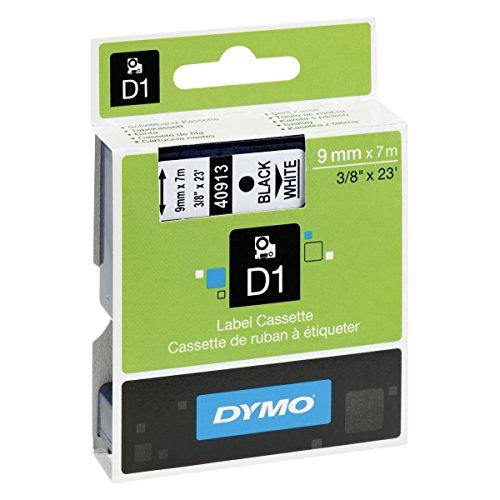 Preisvergleich Produktbild Dymo D1 Band 40913 Beschriftungsband ORIGINAL S0720680 9mmx7m Band weiß Schrift schwarz