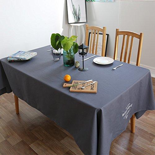 Creek Ywh katoenen tafelkleed, modern, eenkleurig, eenkleurig, rechthoekig, retro-stijl, Amerikaanse eettafel, blauw, 140 x 180 cm