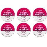 Vaseline Lip Therapy Petroleum Jelly 20 g con rosa y aceite de almendra ROSY LIPS x 6 Tins