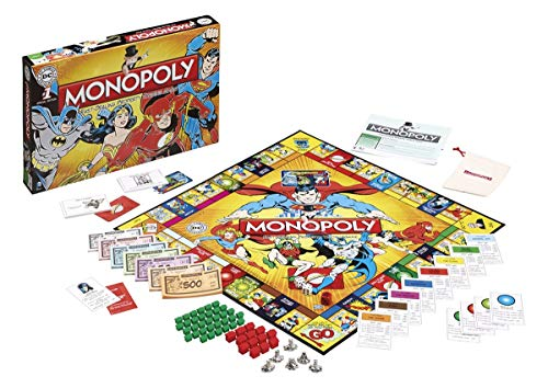 Winning Moves Games DC Comics Retro Monopoly Board Game