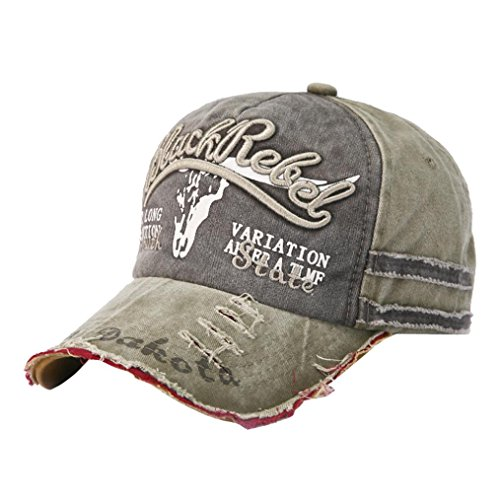 Resplend 2018 Unisex Baseball Cap Hip Hop Hut Stickerei Sport Snapback Kappe Beiläufig Einstellbar Visier Cap (Khaki)