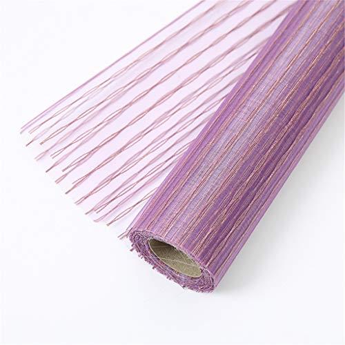 Stationery Einwickelpapier Praline-Rosen-Blumenstrauß Verpackung Ineinander greifen, gerade Form Verpackungsmaterial Super Size 0.48 * 10M 2 Farben Rot Violett DIY-Geschenk-Beutel-Material