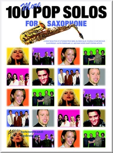 100 More Pop Solos For Saxophones Saxophone - Partitions pour]