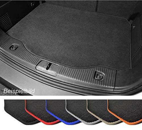 Premium Kofferraummatte für VW Polo 5 Typ 6R Velours Anthrazit Umrandung Anthrazit Kofferraumschutz