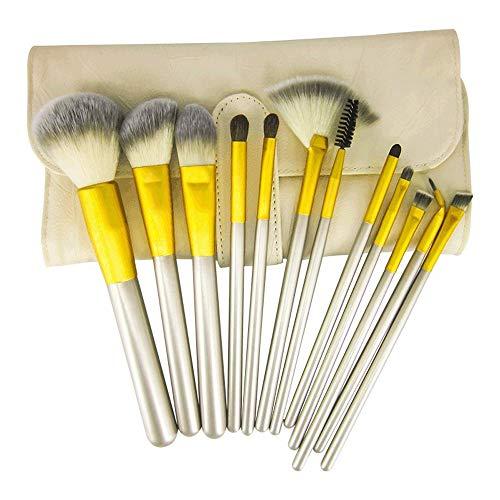 Pinceaux de maquillage femmes Poudre Pinceau Contour Incliné Fond De Brosse À Paupières Fondu Kabuki [12 Pinceaux Visage] Doux
