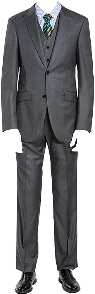 Tampa Mall HBDesign Some reservation Men's 3 Piece 2 Button Peak Fit Slim S Lapel Dress Trim