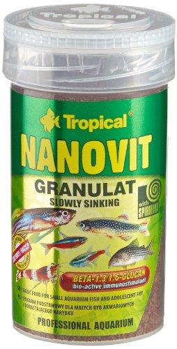 TROPICAL Nanovit Granulat pour Aquariophilie 100 ML - Lot de 2