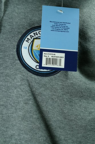 Icon Sports Men Manchester City Zipper Front Fleece Jacket Sweatshirt Officially Licensed Soccer Hoodie Medium 013