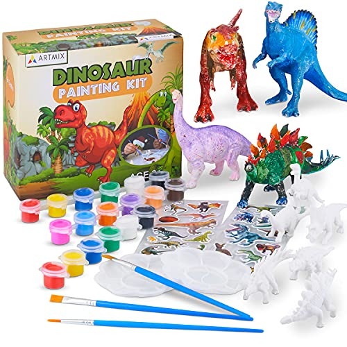 ARTMIX Dinosaur Painting Kit - Full Set, Heavy Duty Fun, Won't Run Out of...