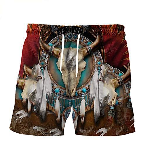 ROMBOBAG Sudaderas con Capucha nativas Americanas Sudaderas con Estampado 3D Hombres Pantalones Divertidos...