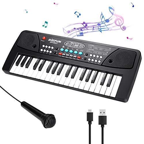 CestMall Klavier Keyboard, Digital Piano 37 Tasten Keyboard Multifunktions Musik Klaviertastatur Für Kinder Geschenk ideal für Kinder und Einsteiger