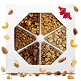 Holiday Nuts Gift Basket Delicious Variety Mixed Nuts Large 6-Selection Prime Gift Christmas, Mothers Birthday & Father's Day Assortment Tray by Proudly Pure