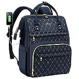 LOVEVOOK Mochila para mujer con compartimento para portátil de 15,6 pulgadas, mochila escolar para niña Teenager, mochila para ordenador portátil, impermeable, bolsillo con puerto de carga USB