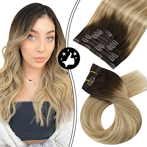 Moresoo 22 Pollice Clip in Human Hair Extensions...
