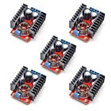 Gowoops 5PCS 150W DC-DC 10-32V to 12-35V Step Up Boost Converter Module Adjustable Power Voltage