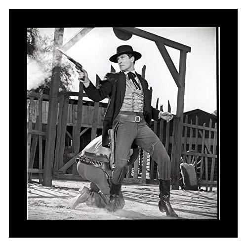 Studio Release Framed 8 x 10 Photo Hugh_Obrian As Wyatt EARP Tombstone