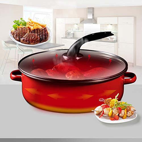 Olla para hornear, sartén de ahorro de energía para el hogar, plancha para cocinar la cocina(Red baking pan)