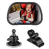 HGYB Miroir de Voiture pour siège arrière de Voiture avec Clips et Ventouse 8,9 x 5,1 cm