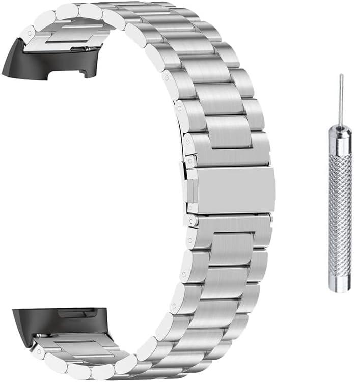 Quick Release Horlogeband, RVS Horlogeband Compatibel voor Fitbit Charge 5 Klassieke Quick Release Polsbandjes Horlogeband met Gereedschap voor Mannen Vrouwen
